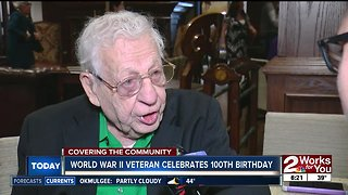 World War II veteran celebrates 100th birthday