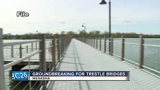 construction for trestle bridges begin - Video
