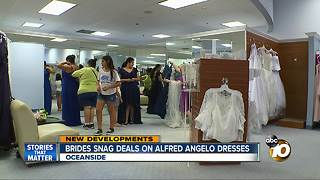Brides snag deals on Alfred Angelo dresses - Video