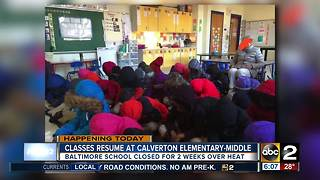 Students finally return to Calverton Elementary/Middle School - Video