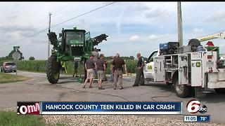 One teen killed, two others injured in crash involving farm equipment & truck in Hancock County - Video