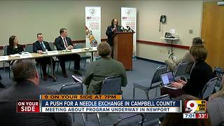 A push for needle exchange in Campbell County - Video