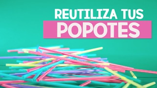 Multiples usos para reciclar popotes. - Video