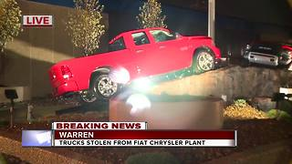 Trucks stolen from Fiat Chrysler lot in Warren - Video