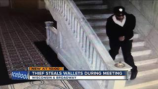 Thief targets downtown office building while people are in meeting - Video