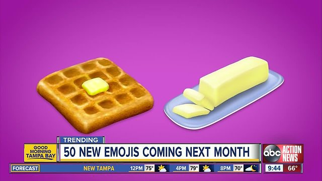 230 new emojis set to launch in 2019, including waffles