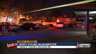 Woman's body found in trash bin - Video