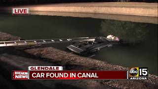 Car found in Glendale canal - Video