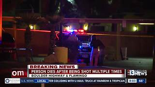 Person shot multiple times near Boulder Highway, Flamingo - Video