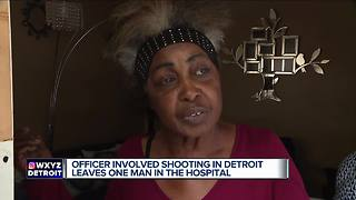 Man injured in officer-involved shooting on Detroit's west side - Video