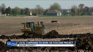 Local companies benefit from Foxconn construction - Video