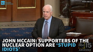 John McCain: Supporters Of The Nuclear Option Are 'Stupid Idiots' - Video