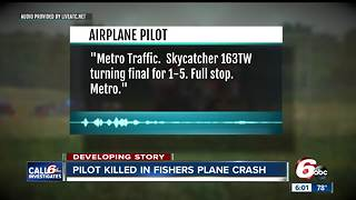 Pilot killed in Fishers plane crash - Video