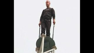Man Stands On Pole For 35 Hours - Video