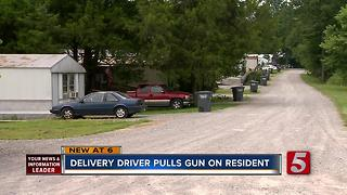 Clarksville Delivery Driver Pulls Gun On Resident - Video