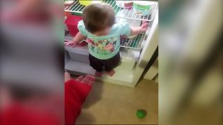 """Toddler Girl Stuck in Fridge"""