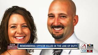 Hundreds gather for fallen Clinton officer's funeral - Video