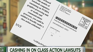 Class action lawsuits could mean free money - Video