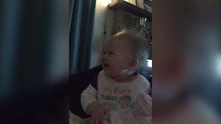Animal Sounds Give A Baby Girl All The Giggles