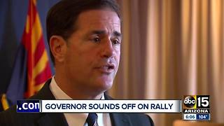 Governor Ducey reacts to President Trump's rally - Video