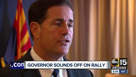Governor Ducey reacts to President Trump's rally