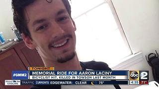 Memorial ride for Aaron Laciny in Towson - Video
