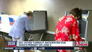 60% voter turnout expected for Iowa primary