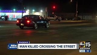 Man killed while crossing the street in Phoenix - Video