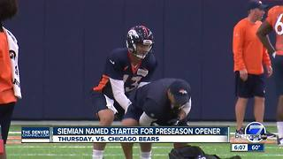 Broncos' Siemian will start preseason opener; Lynch gets nod in Game 2 - Video
