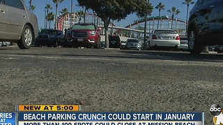 Mission Beach parking crunch could start January - Video