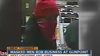 Police seek northwest Las Vegas masked robbers - Video
