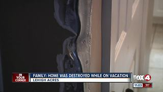 Lehigh Acres family's home destroyed, robbed - Video