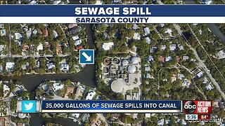 36K gallons of raw sewage spills into Siesta Key canal, health department issues advisory