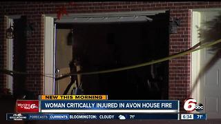Woman critically injured in Avon house fire - Video