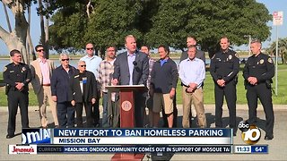 Mayor leads new effort to ban homeless parking