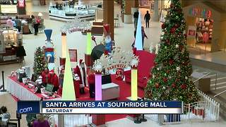 Santa Arrives at Southridge Mall Saturday Nov. 11 - Video