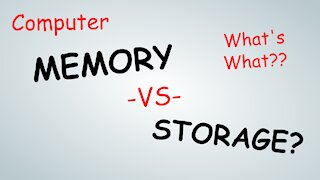 What is: Computer Memory Vs Storage