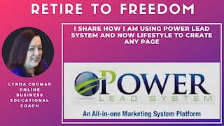 I Share How I Am Using Power Lead System and Now Lifestyle To Create Any Page