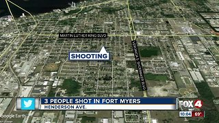 3 people shot in Fort Myers - Video
