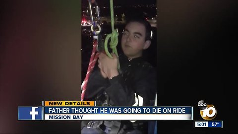 Father says he thought he was going to die on SeaWorld ride