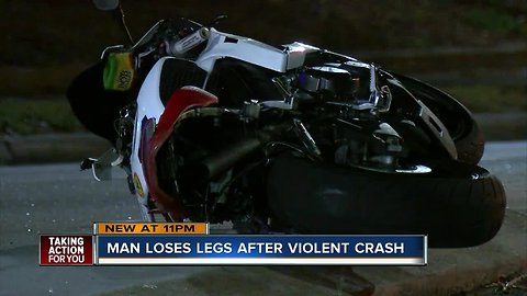 Video shows state trooper saving a motorcyclist who lost both legs in hit-and-run crash