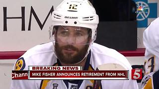 Predators' Captain Mike Fisher Retires - Video