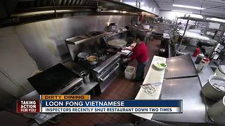 Dirty Dining: Loon Fong Vietnamese Restaurant shut down twice with over 200 rodent droppings - Video