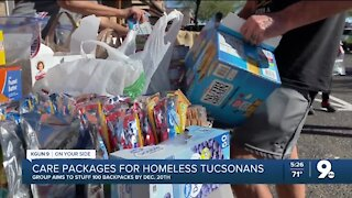 Volunteers help create care packages for those in need this holiday season