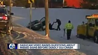 Dash cam video shows police talking with drunk driver before fatal crash