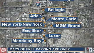 Locals have to pay to park at MGM casinos starting Thursday - Video
