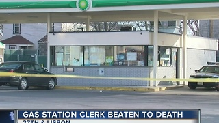 Milwaukee gas station employee beaten to death by shoplifter - Video
