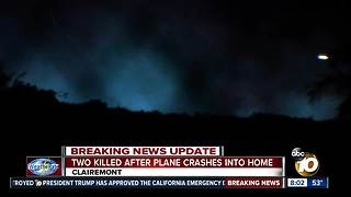 Investigation into plane that crashed into Clairemont home - Video