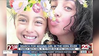 11-year-old girl is missing after being in Kern River - Video