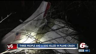 Small plane crash kills 3 people and a dog in Franklin County - Video